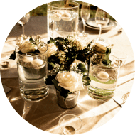 tente decoration table fleur